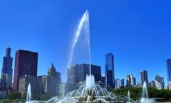 """Buckingham Fountain"", ""A Left-Eyed View"""