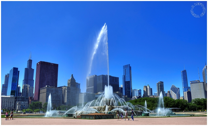 """Buckingham Fountain"", ""A Left-Eyed View"""