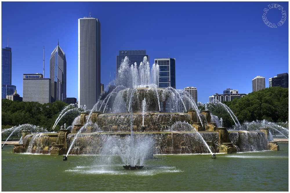 "Buckingham Fountain, ""A Left-Eyed View"""