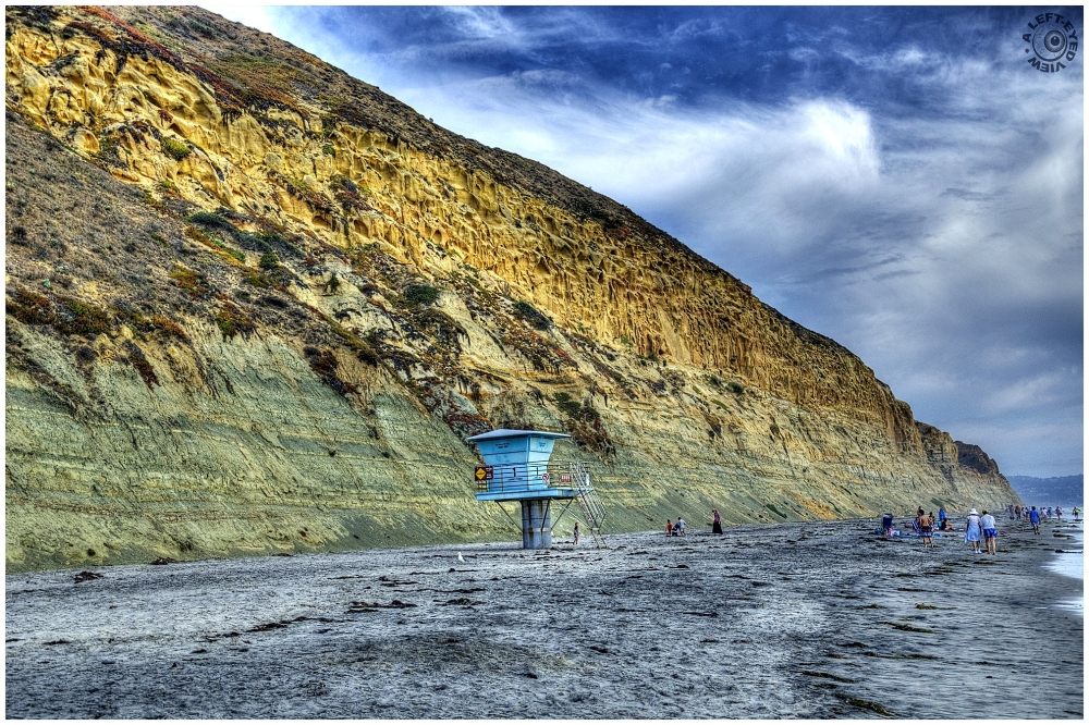 """Torrey Pines Beach"", ""A Left-Eyed View"""