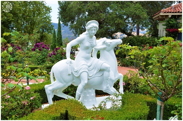 Statue in Hearst Castle Gardens