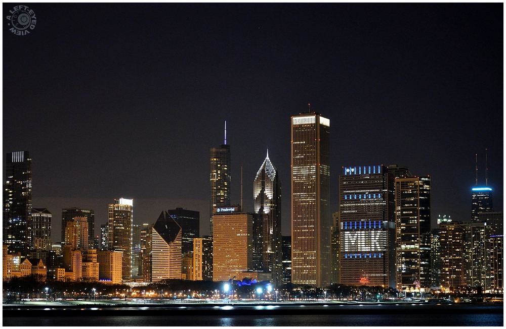 """Chicago Skyline"", ""A Left-Eyed View"""