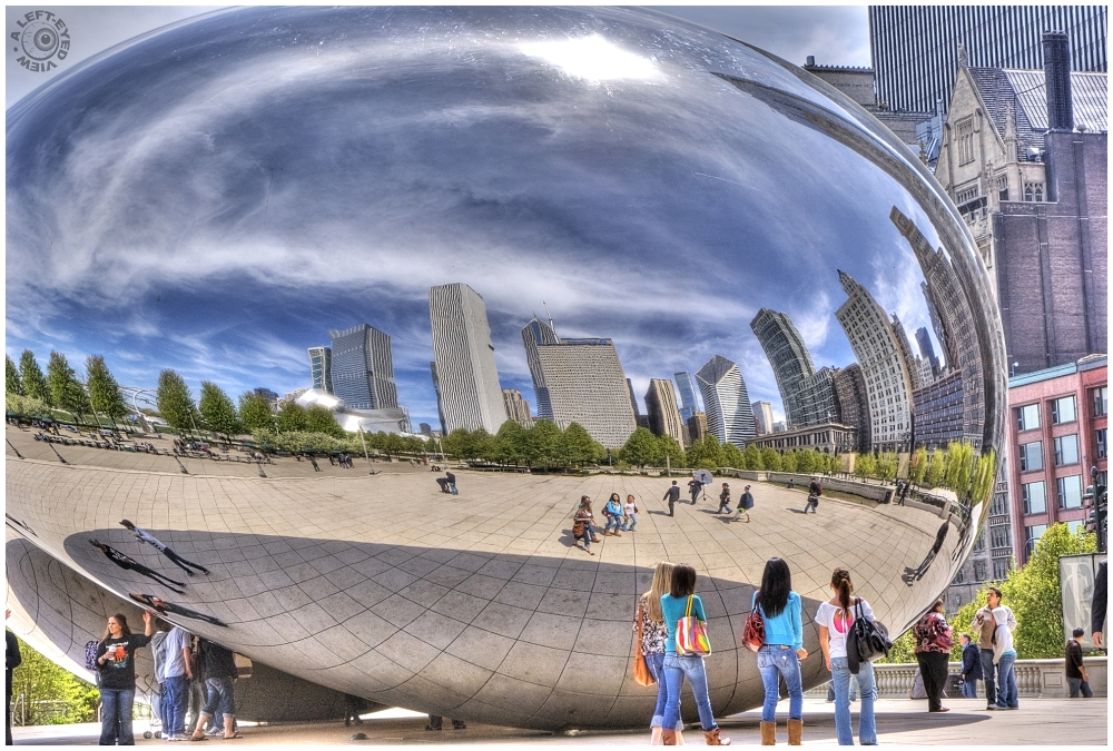 """""""A Left-Eyed View"""", """"Cloud Gate"""""""