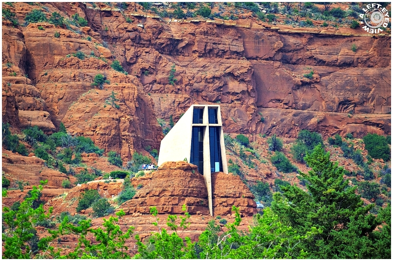 """""""A Left-Eyed View"""", """"Chapel of the Holy Cross"""""""