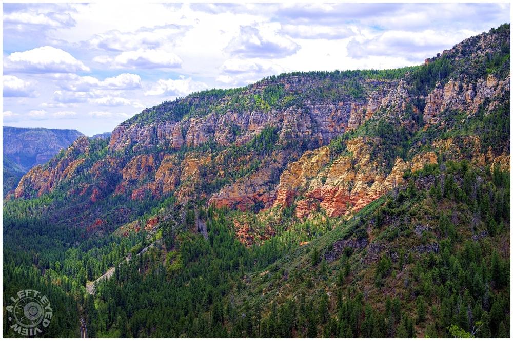 """""""A Left-Eyed View"""", """"Oak Creek Canyon"""""""
