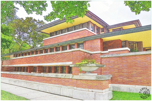 Colored Pencil of the Robie House #2