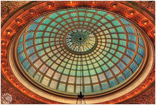 Preston Bradley Hall Tiffany Dome