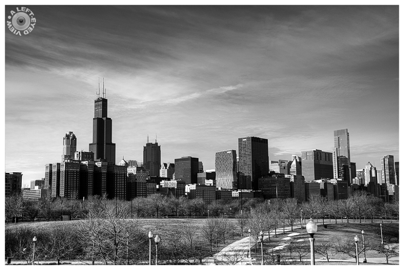 """A Left-Eyed View"", Sabourin, Chicago, skyline"