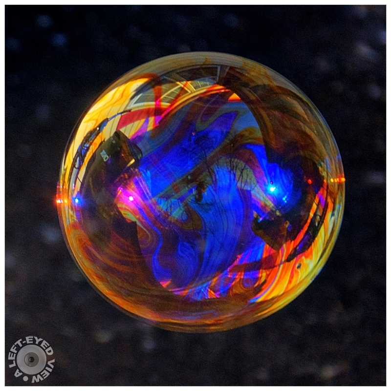 """""""A Left-Eyed View"""", Sabourin, Soap Bubble"""