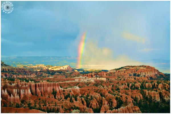 Rainbow over Inspiration Point   Bryce Canyon