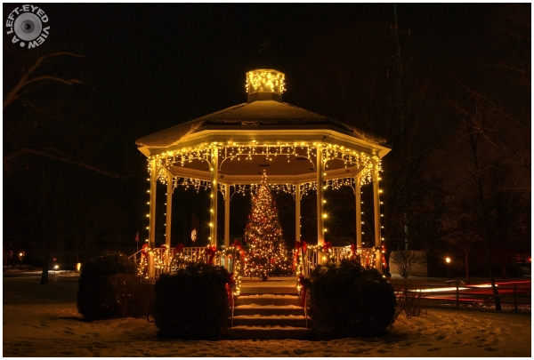 "Christmas gazebo, ""Lake Bluff"", Illinois"