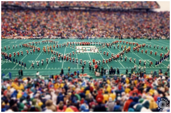 Tilt Shift Effect on the Marching Illini at MSU