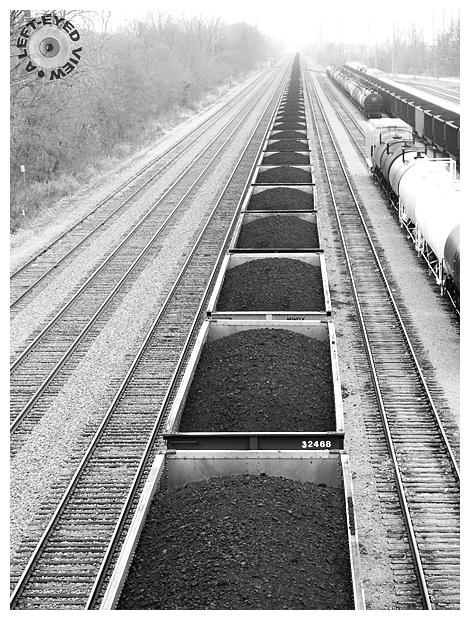 coal, boxcars