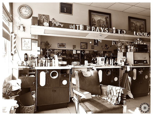 "Barber Shop, ""A Left-Eyed View"""