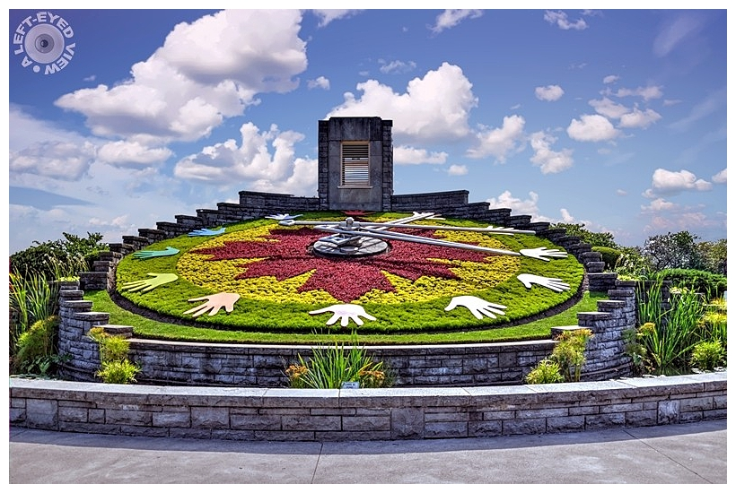 "Floral Clock, ""A Left-Eyed View"""