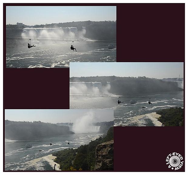 "Niagara Falls, Ziplining, ""A Left-Eyed View"""