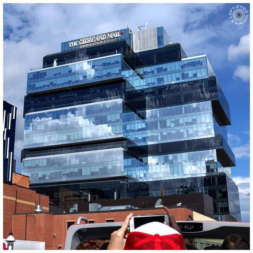 """""""The Globe and Mail Centre"""", """"A Left-Eyed View"""""""
