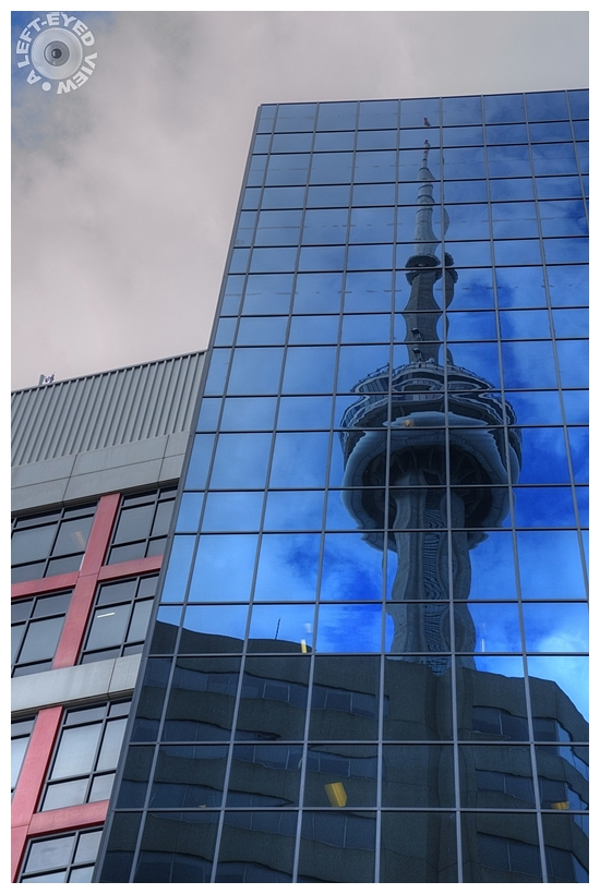 CN Tower Reflected