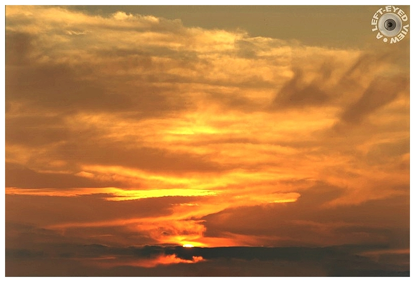 """Sunset, """"A Left-Eyed View"""""""