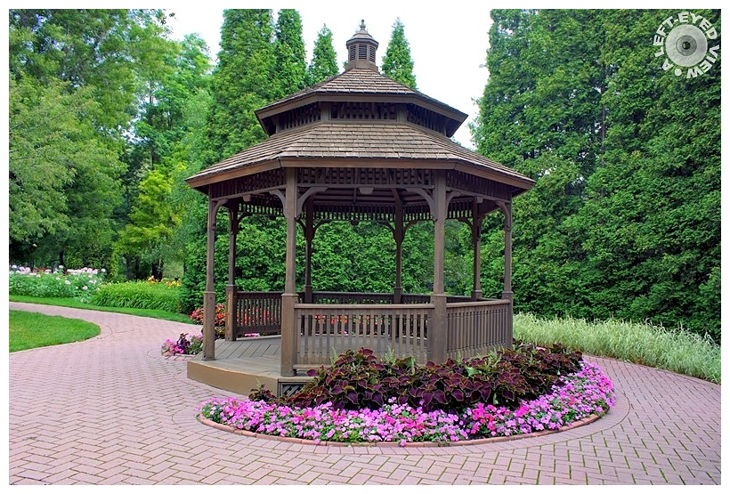 "Bowen Park Gazebo, ""A Left-Eyed View"""