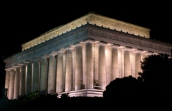 """""""A Left-Eyed View"""", Sabourin, Lincoln Memorial"""