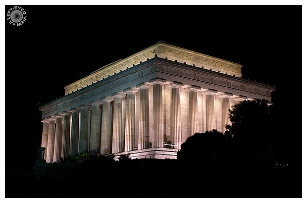 """A Left-Eyed View"", Sabourin, Lincoln Memorial"