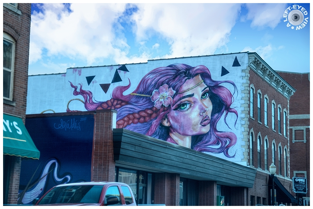 """""""A Left-Eyed View"""", Sabourin, Mural"""