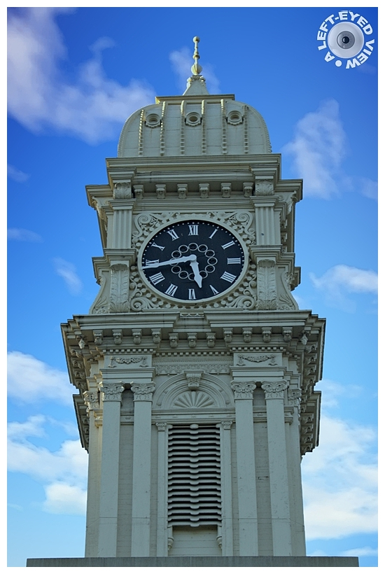 """A Left-Eyed View"", Sabourin, Dubuque Town Clock"