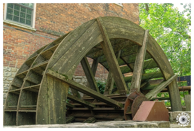 """A Left-Eyed View"", Graue Mill Waterwheel"