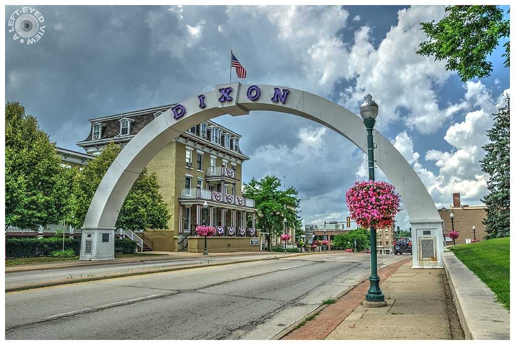 """A Left-Eyed View"", ""Veterans Memorial Arch"""