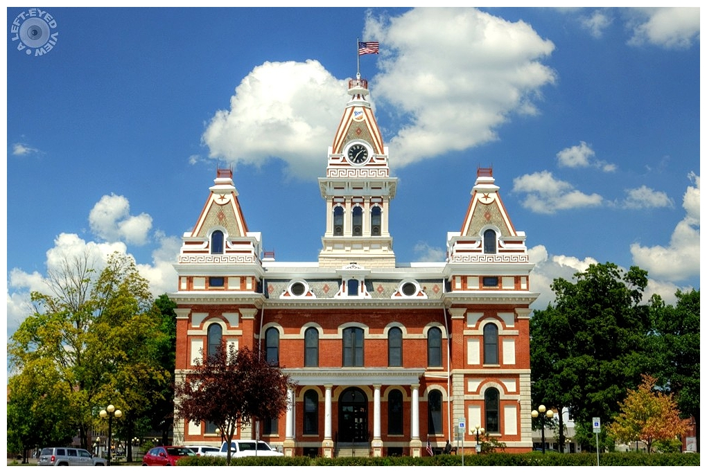 """""""A Left-Eyed View"""", Livingston County Courthouse"""