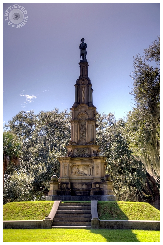 """""""A Left-Eyed View"""", Sabourin, Confederate Monument"""