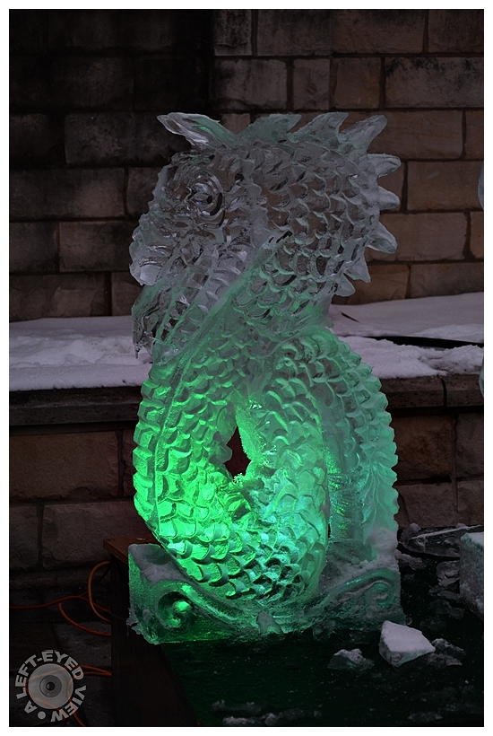 """""""A Left-Eyed View"""", Sabourin, Ice Carving Festival"""