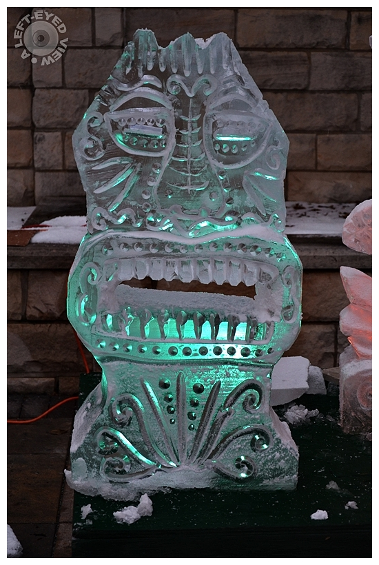 Tiki Ice Carving