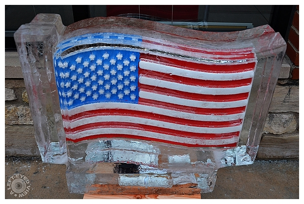 American Flag Ice Carving
