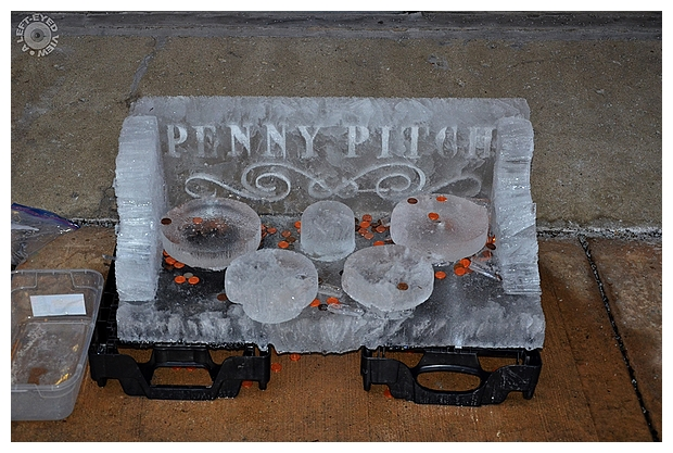 Penny Pitch Ice Carving