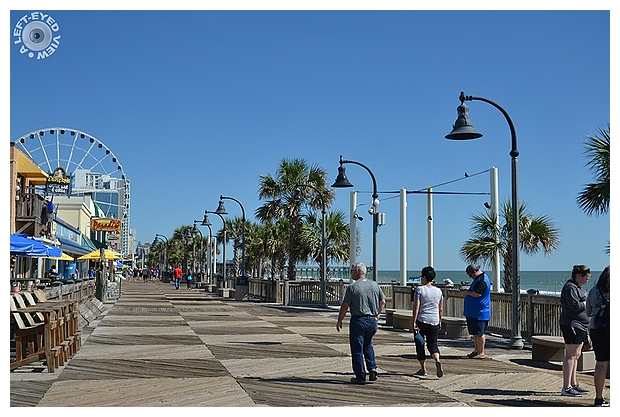 """A Left-Eyed View"", ""Myrtle Beach Boardwalk"""