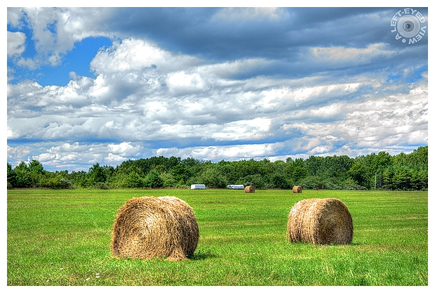 """A Left-Eyed View"", Sabourin, Hay Bales"