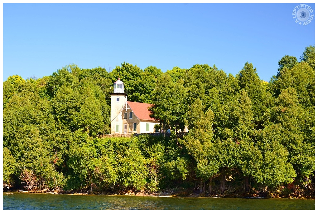 """A Left-Eyed View"", ""Eagle Bluff Lighthouse"""