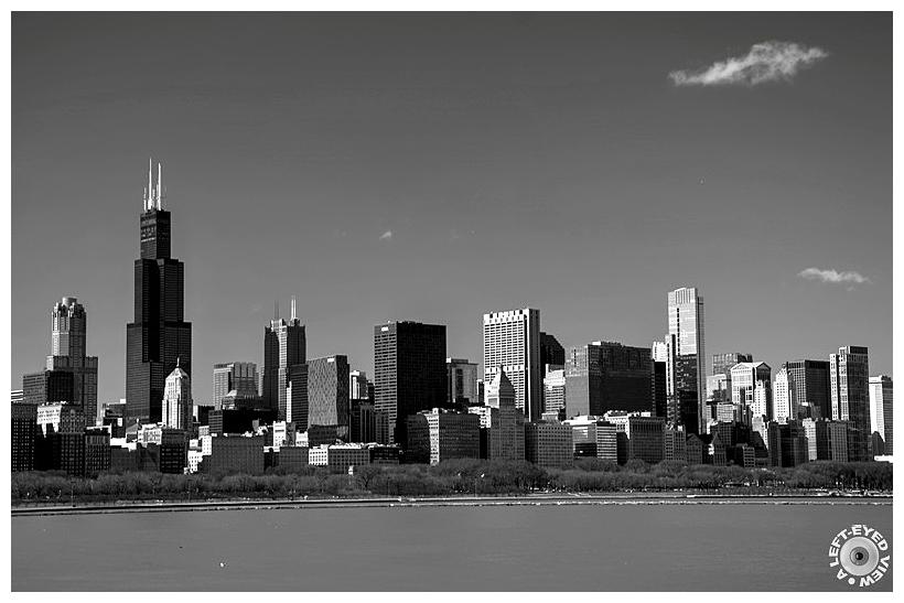 "Chicago Skyline, ""A Left-Eyed View"", Sabourin"