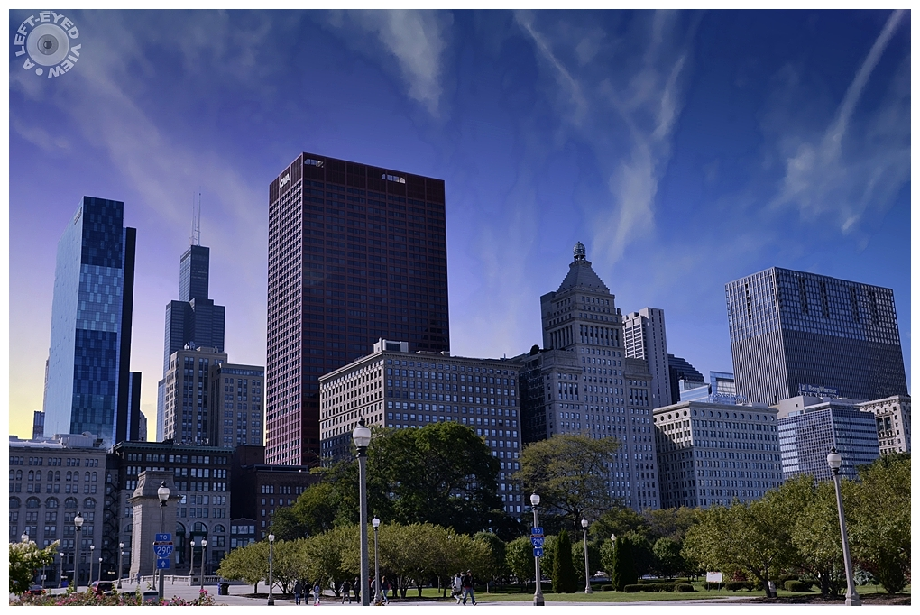"""A Left-Eyed View"", Sabourin, Chicago Skyline"
