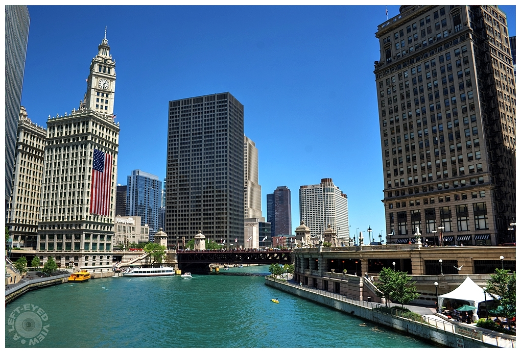 """""""A Left-Eyed View"""", Sabourin, Chicago River"""