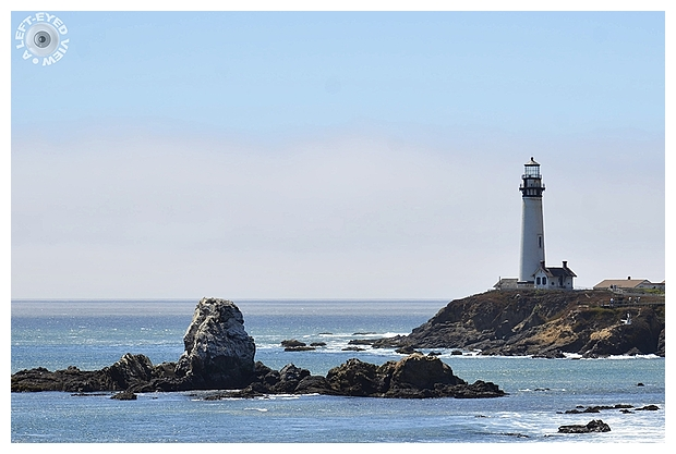 """""""Pigeon Point Lighthouse"""", """"A Left-Eyed View"""""""