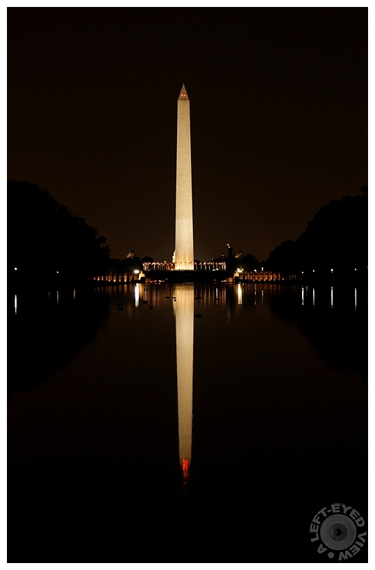 """""""A Left-Eyed View"""", Sabourin, Washington Monument"""