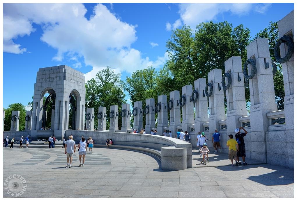 """""""A Left-Eyed View"""", """"World War II Memorial"""""""