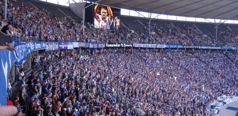 Hertha Berlin's last home game of the season