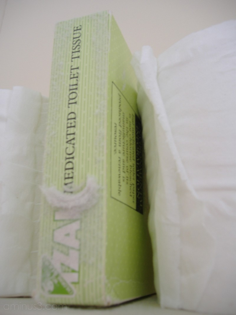 Unused medicated toilet paper