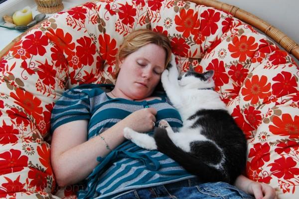 Helen sleeps off the night before