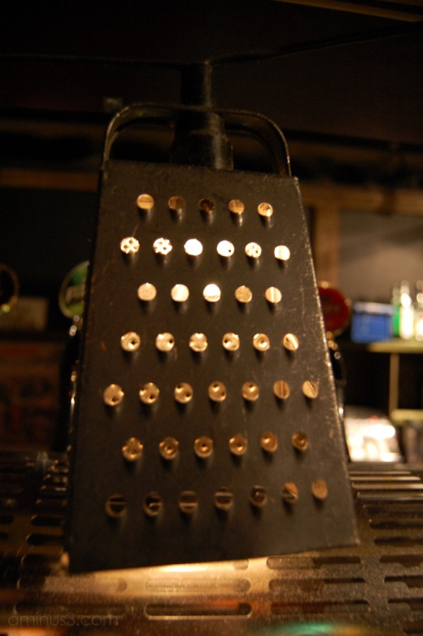 Lihghtbulb in a Cheese Grater