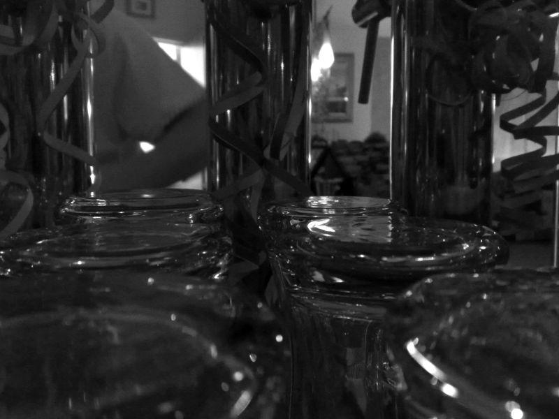 Upside-Down Beer Glasses